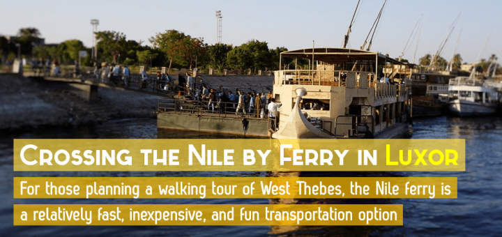 Crossing the Nile by Ferry in Luxor