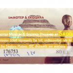 Egyptian Sidekick Imhotep Saqqara Museum